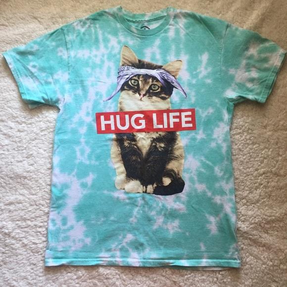 839ba2e3 ODM Tops   Cat Kitten Tie Dyed Hug Life Tee   Poshmark